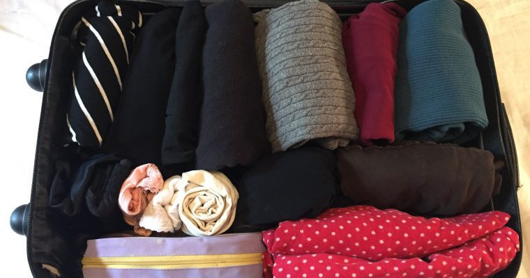 My bag is packed (vertically!)…