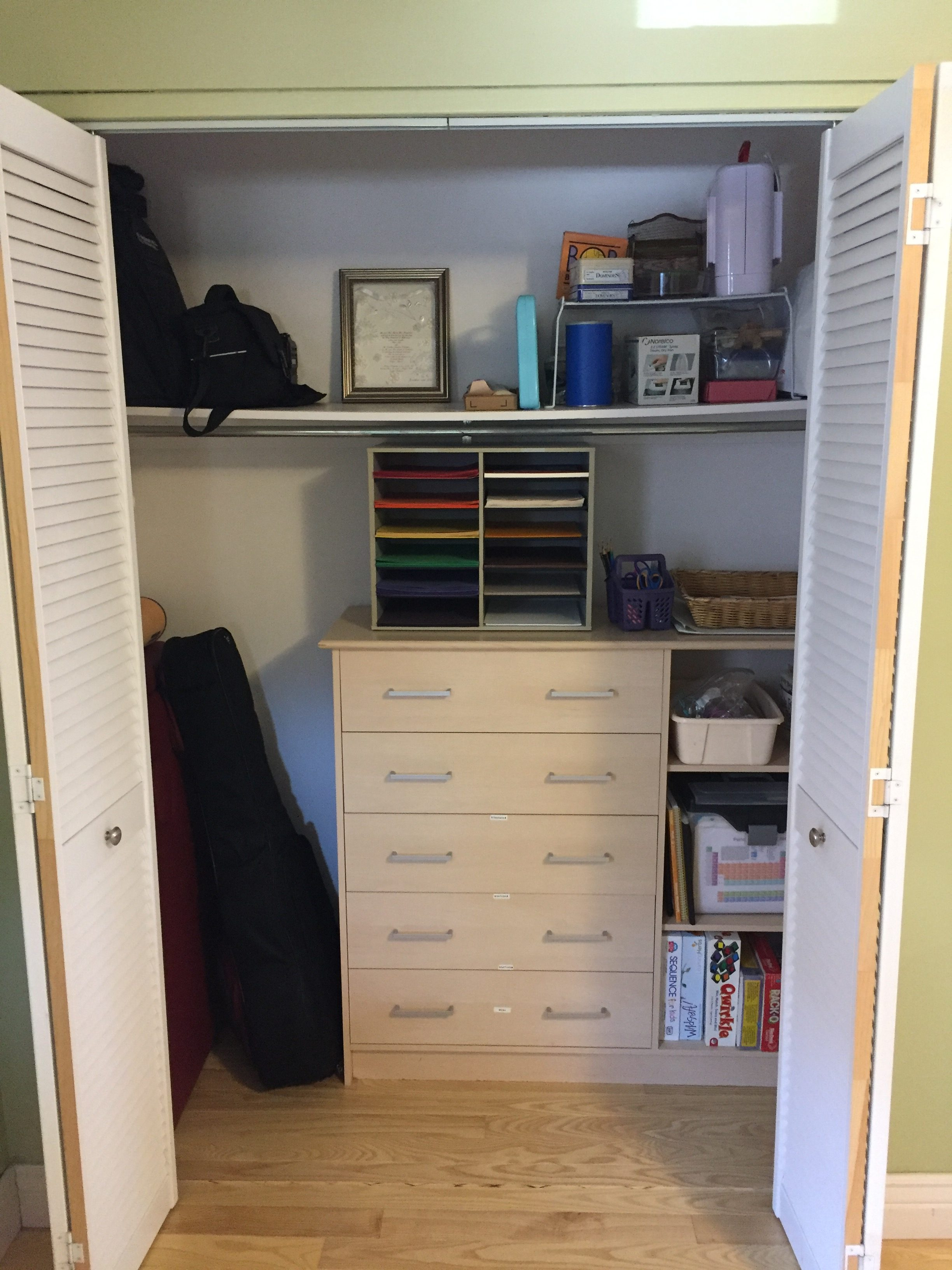 Great Room Closet, Before And After